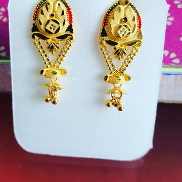 Gold Earrings & Bali kadi by Shree Kesar Gold Palace