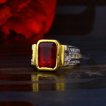 Mens Solitaire Gold Ring