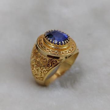 916 Gold Fancy Gent's God & Goddess Minakari Rings