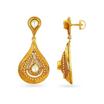 EARRINGS GOLD by Ghunghru Jewellers