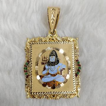 916 Gold Shankar Bhagavan Minakari Pendants