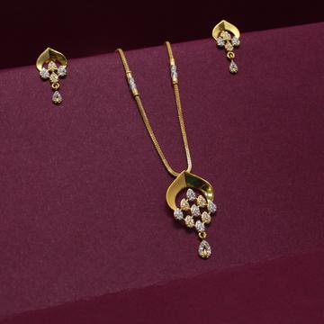 Ladies Chain Pendant Set by Simandhar Jewellers