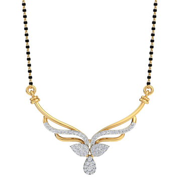BRANDED REAL DIAMOND MANGALSUTRA by