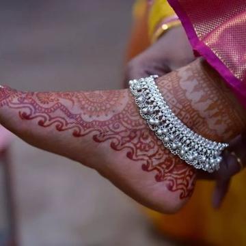 Silver Payal ( Anklets) by Harekrishna Gold