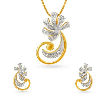 PENDANT SET GOLD by Ghunghru Jewellers
