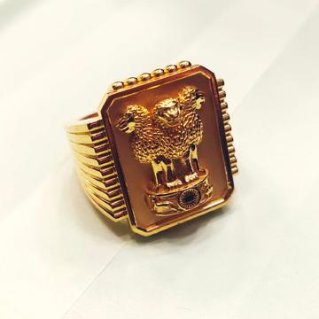 Gold Men Diamond Ring by Harekrishna Gold