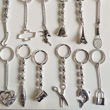 Silver Fancy Keychains