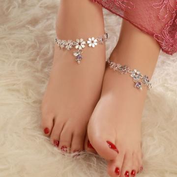 92.5 Silver Hallmark Payal (Anklets)