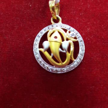 Gold Pendant by Shree Kesar Gold Palace