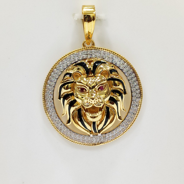 Gold CZ Pendant Chain by S. O. Gold Private Limited