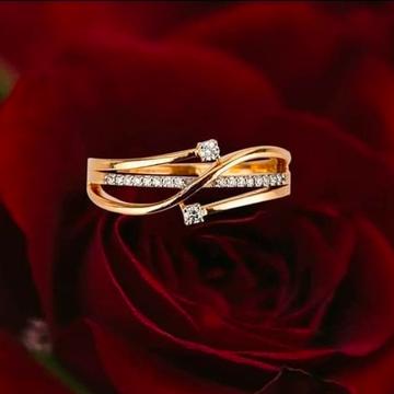 Gold Diamond Ladies Rings by Harekrishna Gold