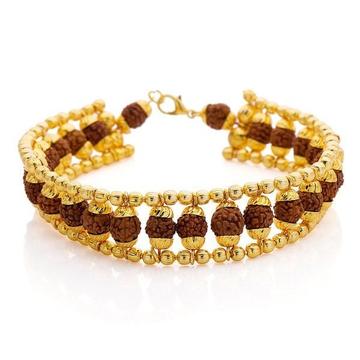 916 Gold Fancy Rudraksh Bracelet