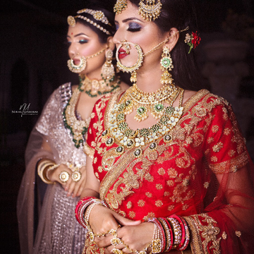Bridal Jewelry with model