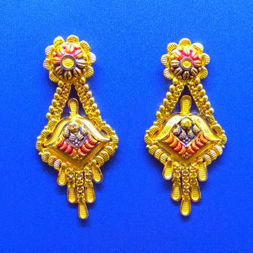 Gold Plain women Tops ( Earrings ) by Harekrishna Gold