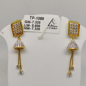 Gold Earrings by S. O. Gold Private Limited