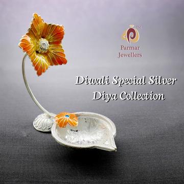 Diwali Special Silver Diya Collection