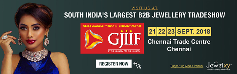 Gem & Jewellery India International Fair-GJIIF, September 2018, Chennai, India